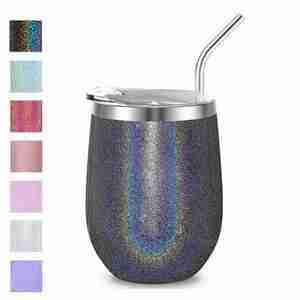 Glitter coating stainless steel tumbler