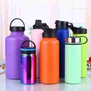 spray painting hydro flask bottles