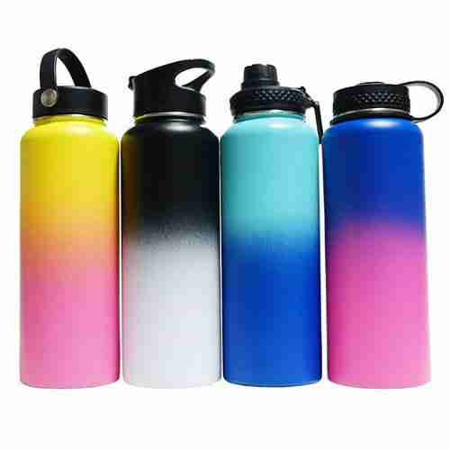 What coating is used on the surface of Hydro Flask Water Bottles