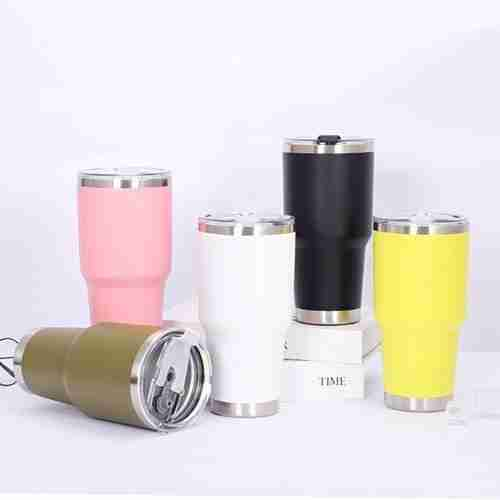 ET03-Double wall stainless steel tumbler wine cup 30oz