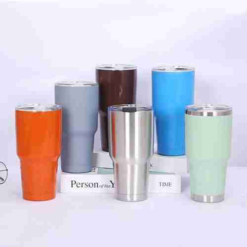 02 ET03-Double wall stainless steel tumbler wine cup 30oz