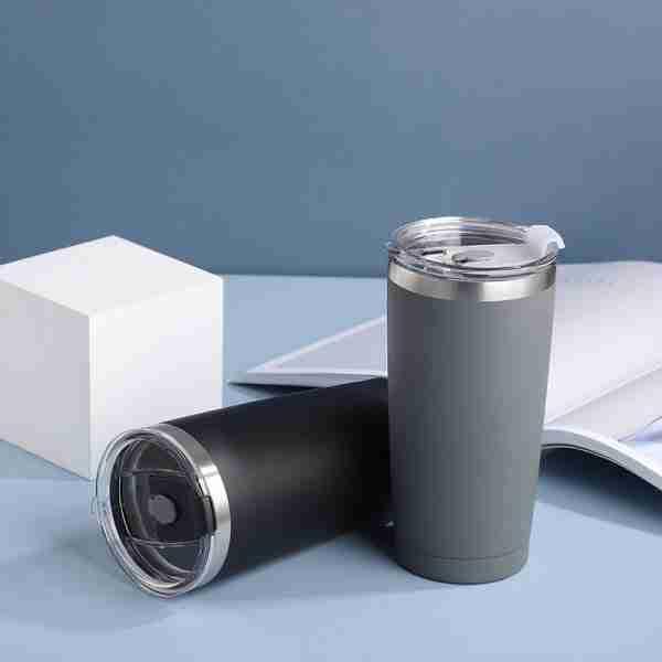03 Stainless steel tumbler coffee mug with lid 16oz