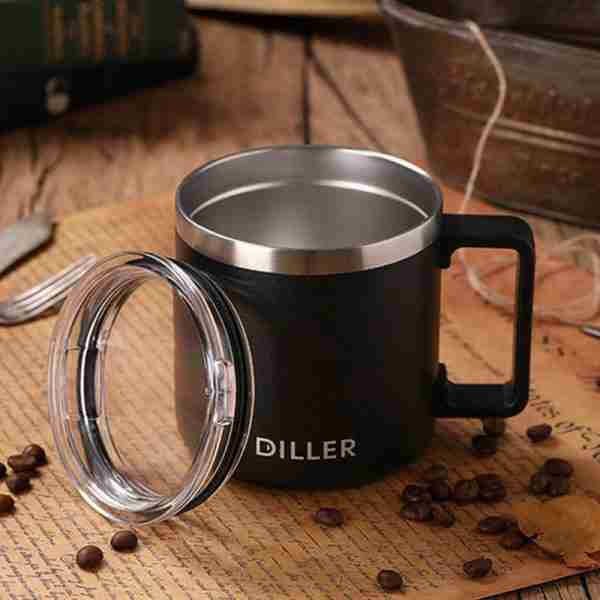 03 ET05-Stainless steel vacuum insulated travel tumbler beer mug 14oz