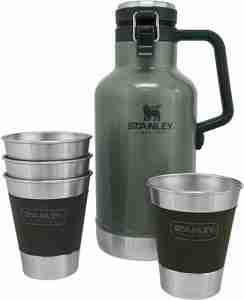 Stanley Classic Outdoor 64oz Beer Growler Stainless Steel Vacuum Insulated Beer Container
