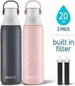 Brita 20oz Stainless Steel Double Wall Insulated Kids Bottle With Filtering