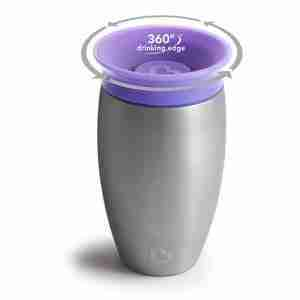 Munchkin Miracle Stainless Steel 360 Sippy Cup 10 Ounce