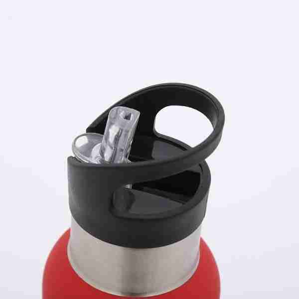 02 Sports water bottle stainless steel with straw 500ml