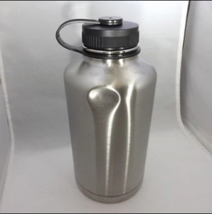 Dent On Stainless Steel thermos flask bottle