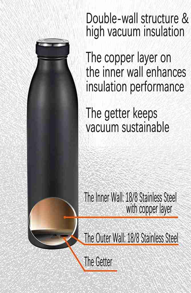 Getter In Vacuum Insulated Stainless Steel Bottle