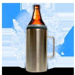 64 oz. beer bottle insulated koozie stainless steel​