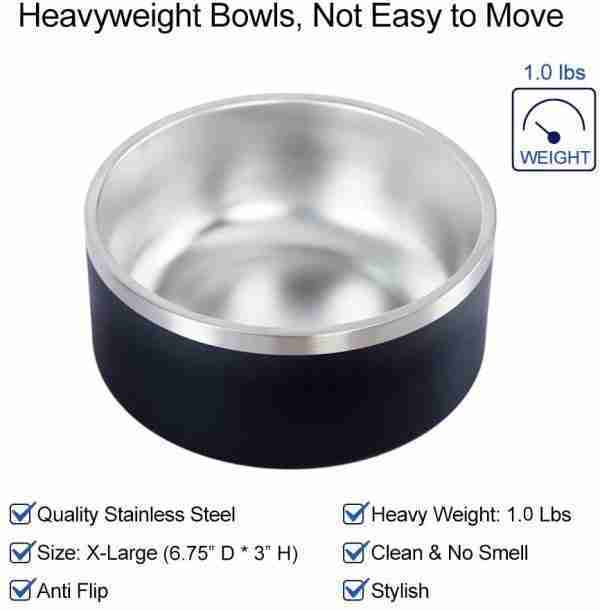 EB01 Stainless Steel Double Walls Insulated Bowls Dog Pet 02