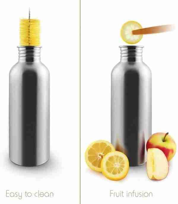 Stainless steel Lightweight Water Bottle Single Wall 06