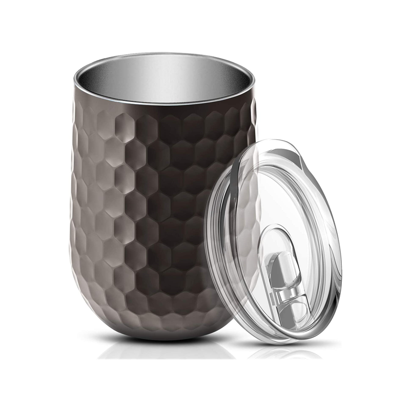 ET08-Vacuum Insulated Wine Tumbler Stainless Steel Wine Glass Tumbler 12 oz, Champagne, Cocktail, Beer