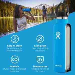 Best sports insulated water bottle: Hydro Flask flex cap water bottle 21 oz.