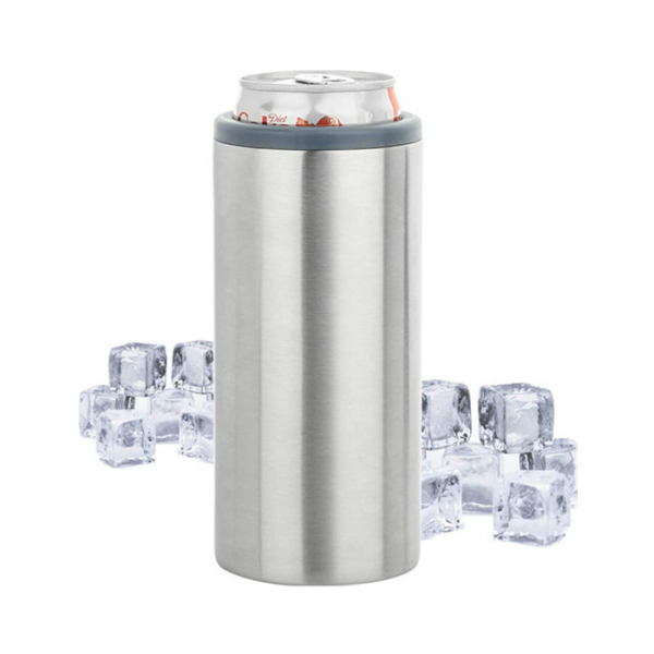 Hopsulator Slim Double wall Stainless Steel Insulated Can Cooler for 12oz
