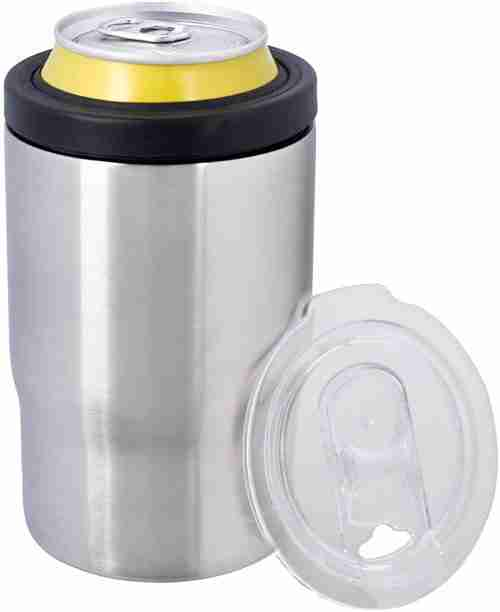 EC03-Koozie Stainless Steel Double Wall Vacuum Insulated Triple Can Cooler 12 oz