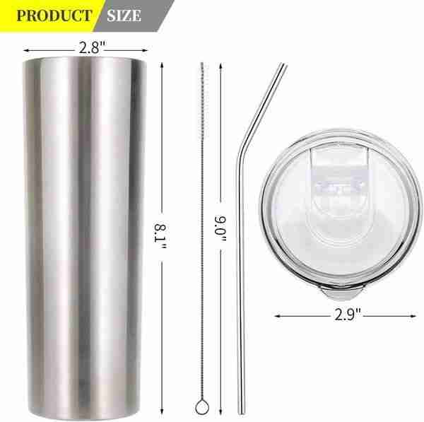 Double Wall Stainless Steel Vacuum Insulated Travel Mug 20oz