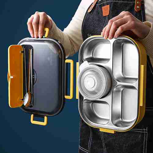 01 Stainless Steel Lunch Box Food Container Storage