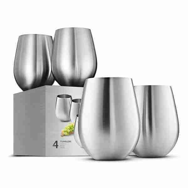 Stainless Steel Unbreakable Wine Glasses