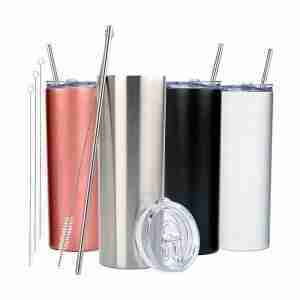 ET14-Skinny Tumblers Stainless Steel tumbler with straw