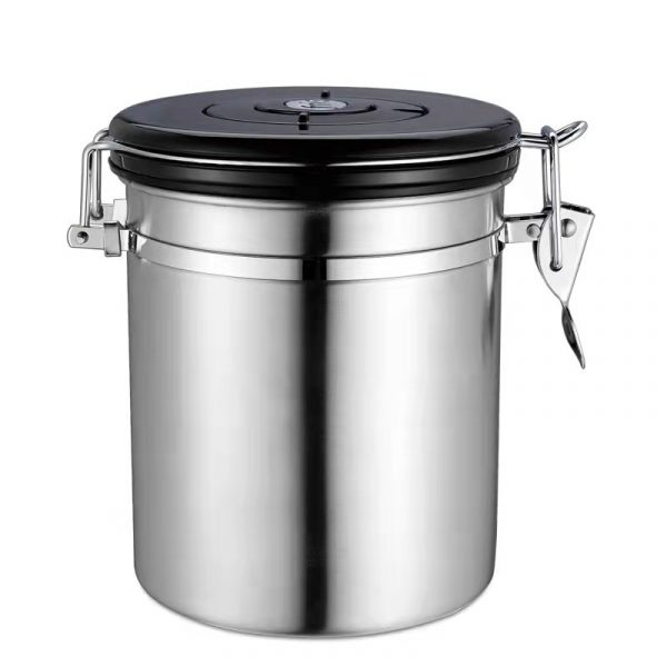 Coffee Canister Airtight Stainless Steel Food Storage Container