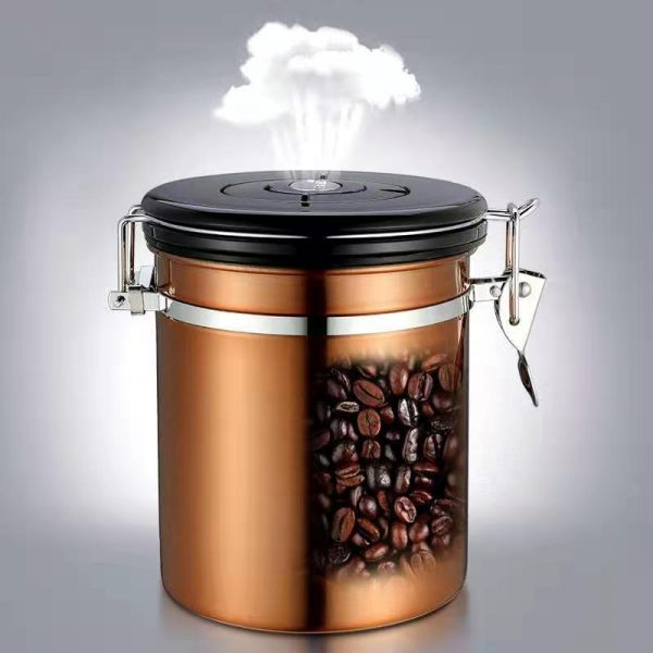 Coffee Canister Airtight Stainless Steel Food Storage Container 01
