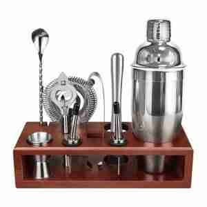 Stainless Steel Cocktail Shaker Set Bartender Kit 24 OZ