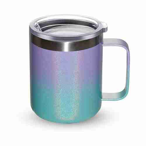 ET16-Stainless Steel Coffee Mug Cup with Handle 12oz