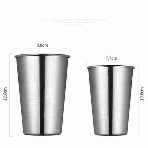 Stainless Steel Whiskey Glasses Shot Cups 02