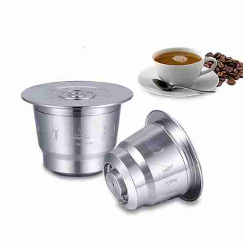 Stainless Steel Fillable Coffee Capsule Cup Filter Nespresso
