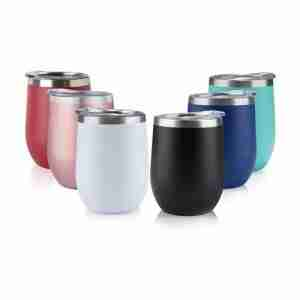 ET01-12OZ Stainless Steel YETI Tumbler with Lid,Wine Glass