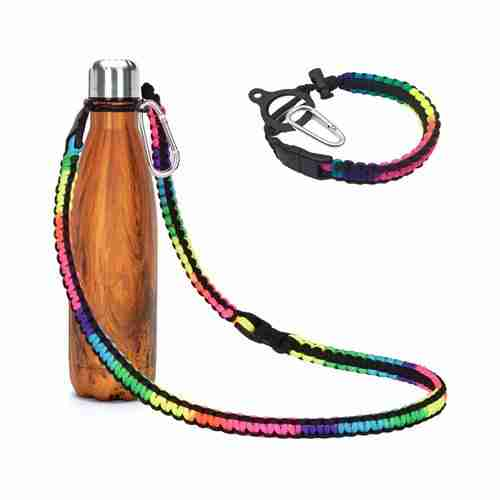Paracord Handle with Long Shoulder Strap for Cola Swell bottle