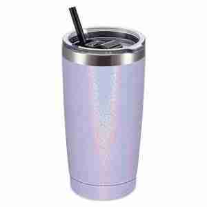 ET20-Glitter Powder Coating Stainless Steel Tumbler Mug