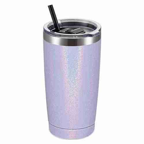 ET20-Glitter Powder Coating Stainless Steel Tumbler Mug
