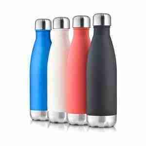 EB21-Stainless Steel Swell Bottle 17oz: Soft Rubber Coating