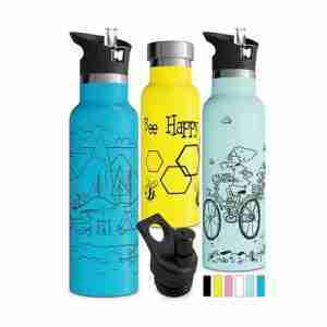 custom insulated water bottle with graphic design pictures