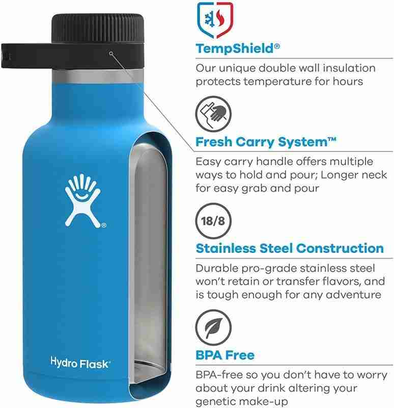 Hydro Flask vacuum insulated water bottle, what water bottle keeps water the coldest