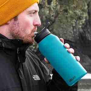 Best insulated water bottle with straw: CamelBak Eddy+ Vacuum Stainless Insulated Water Bottle.