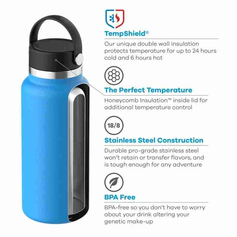 32 oz hydro flask water bottle wide mouth