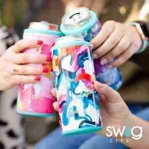 Best pattern design koozie: SWIG LIFE skinny can cooler 12 ounces