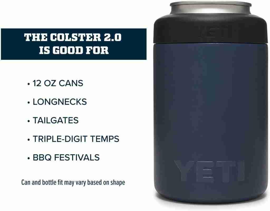 Best standard can cooler koozie: YETI rambler 12 oz. colster can insulator