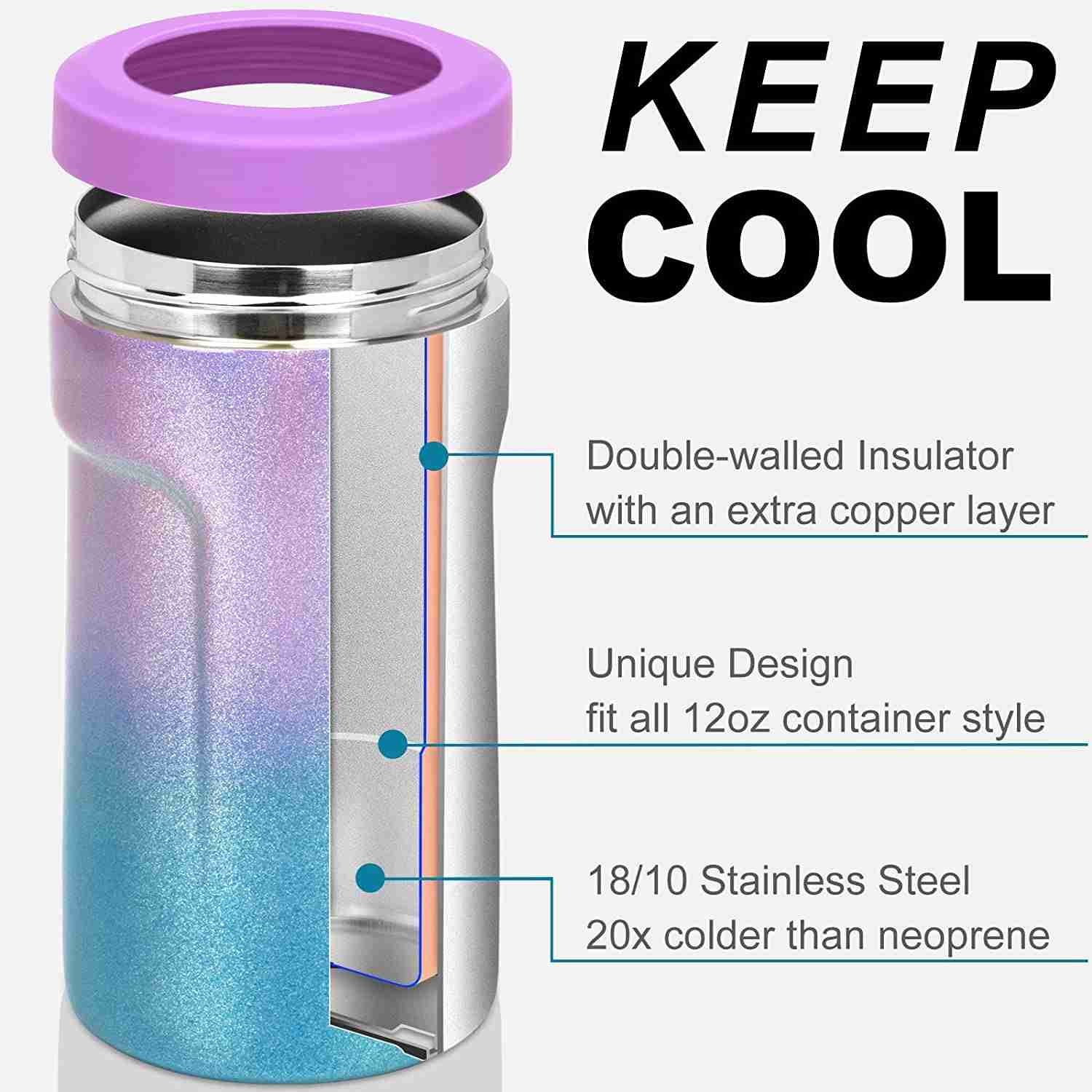 How stainless steel can cooler metal koozie works to keep cold