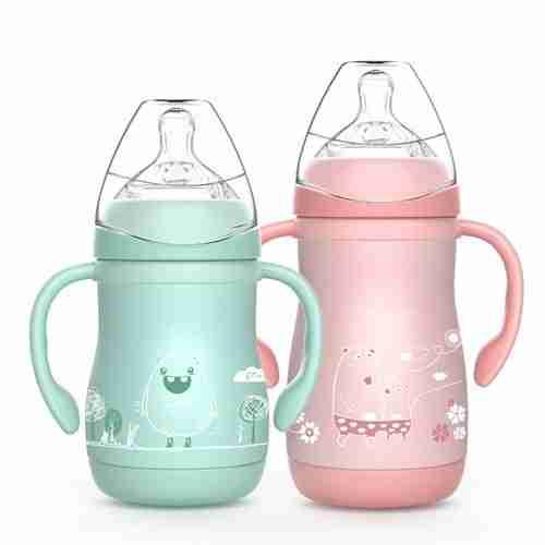 EW-9 oz. Stainless steel baby bottles metal milk jug