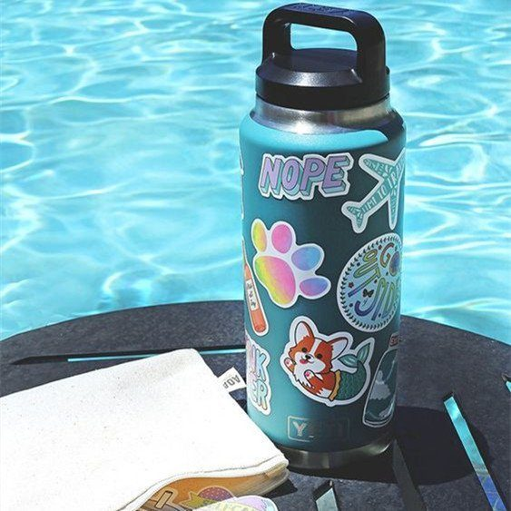 customized water bottles with stickers